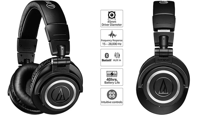 Audio-Technica ATH-M50xBT 1 - Best headphone for beat making